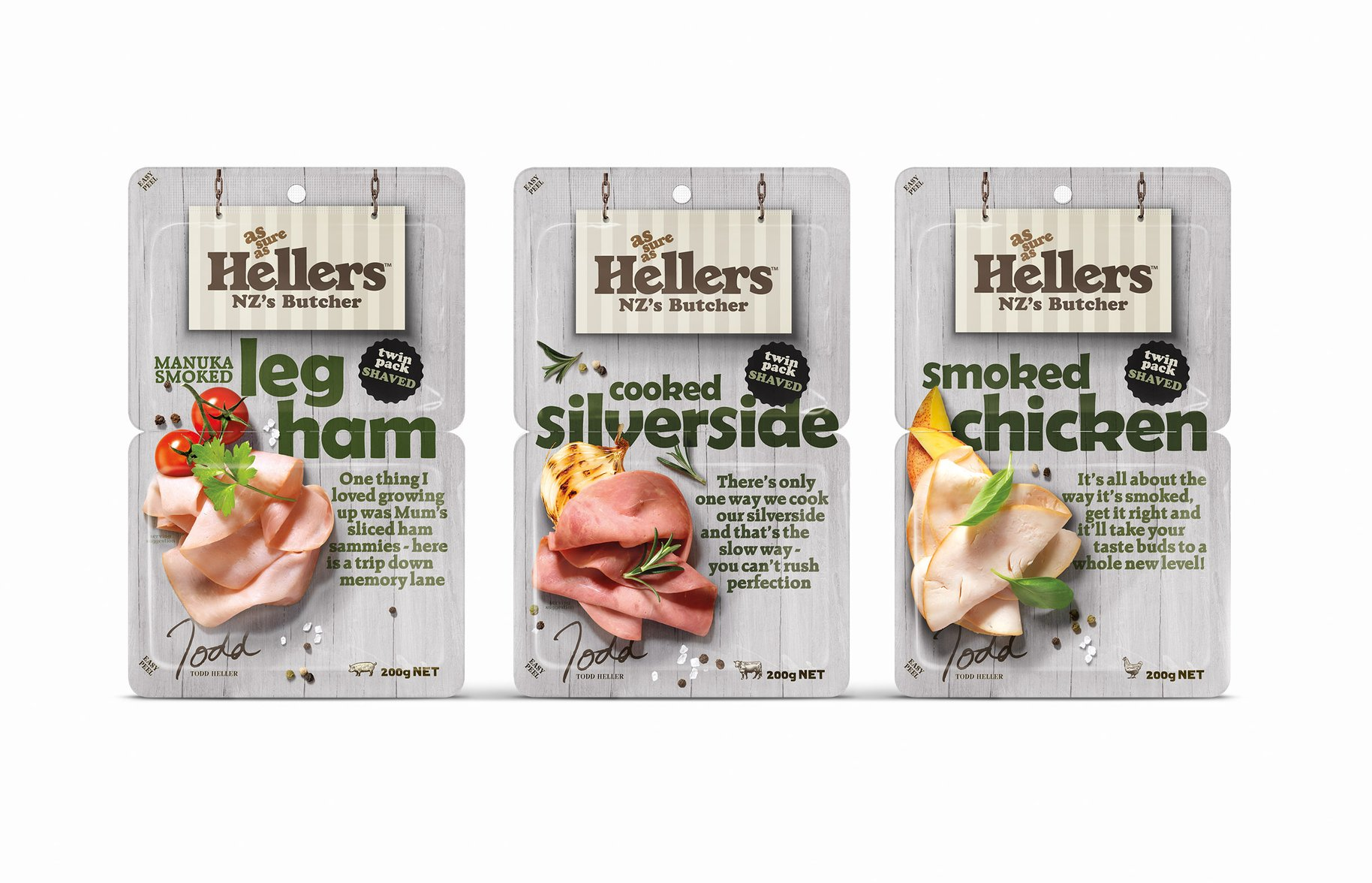 Hellers shaved meats packaging