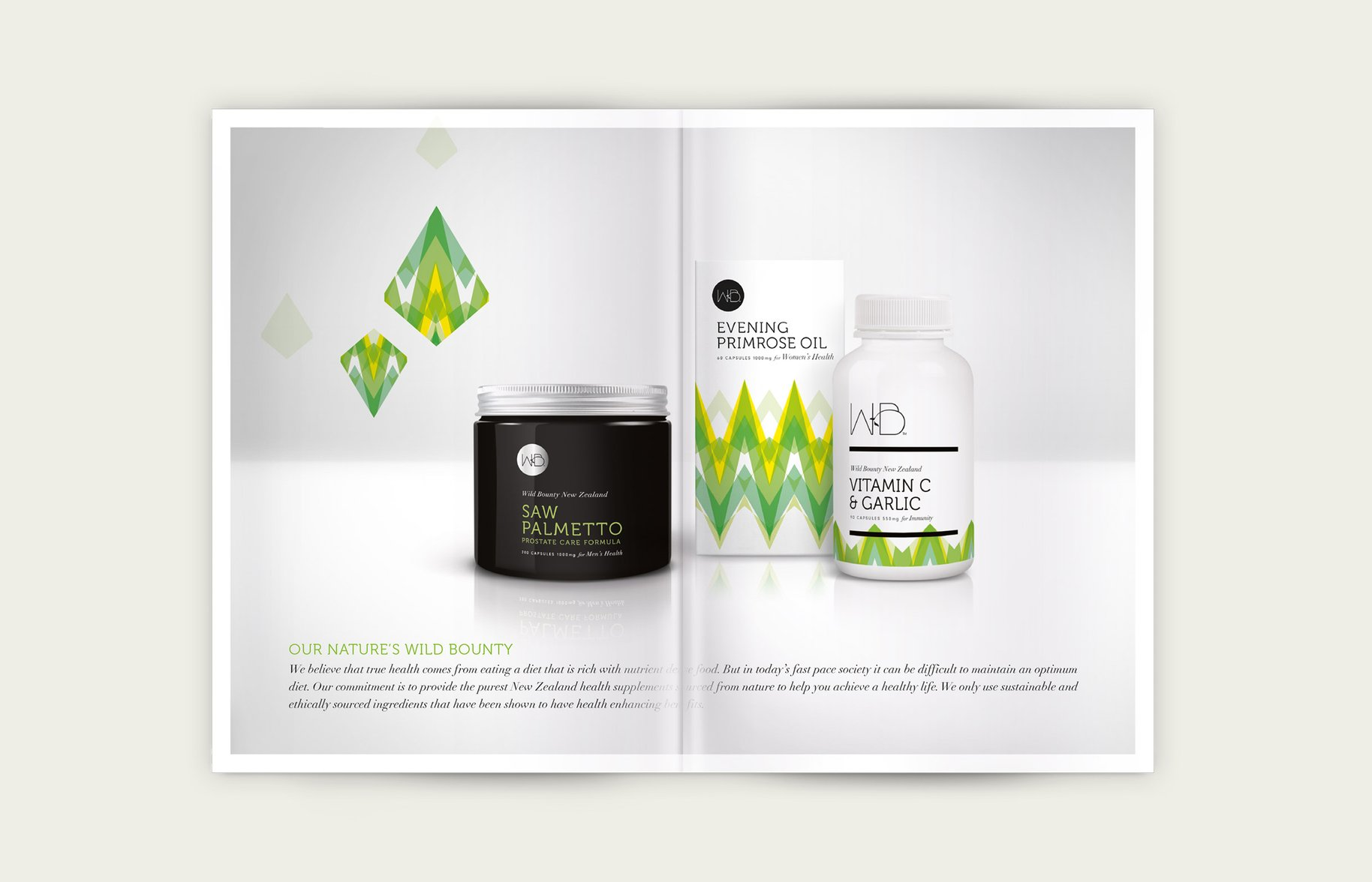 Wild Bounty product range booklet design