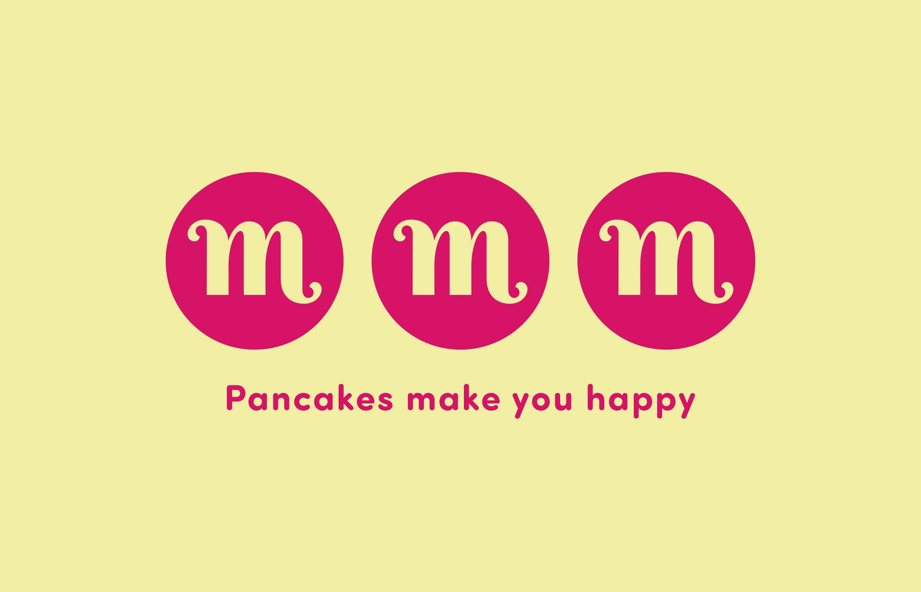 Marcel's 'Pancakes make you happy' Logo