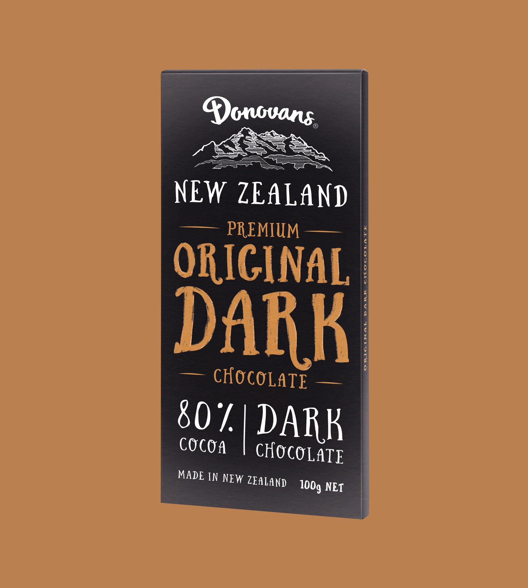Donovans Chocolate Original dark block packaging