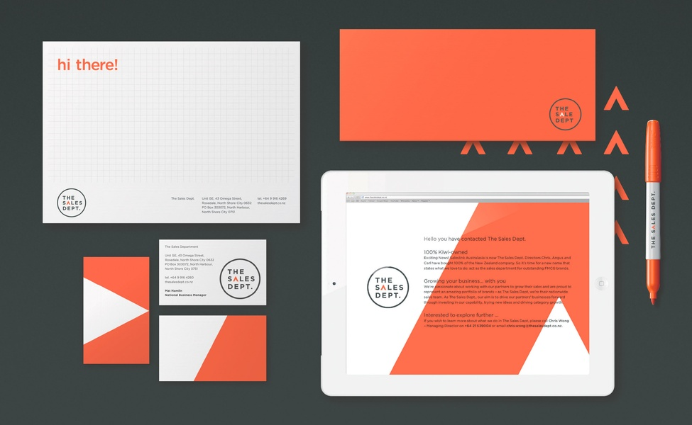 The Sales Department Corporate Identity Stationary Pack