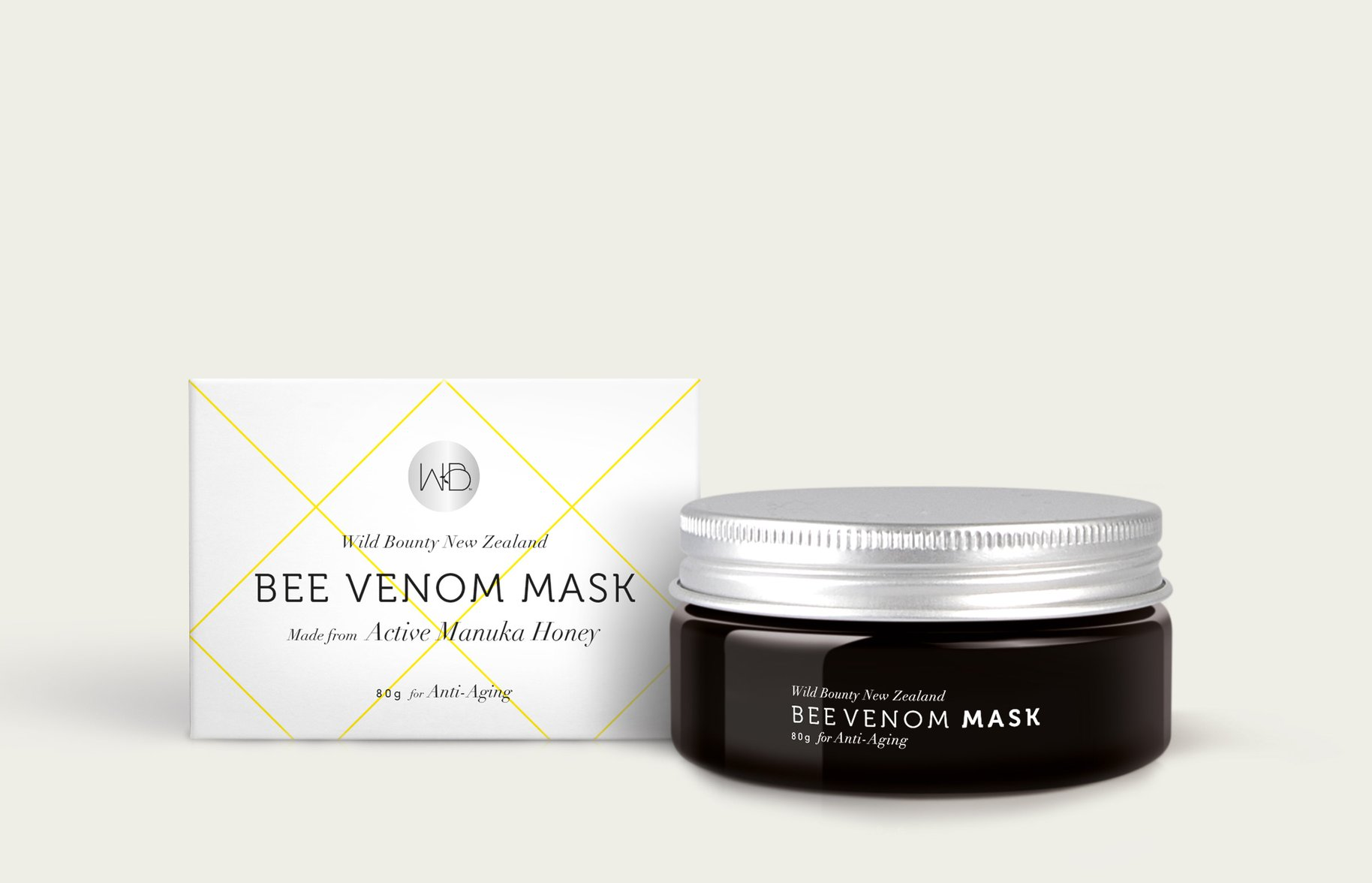 Wild Bounty bee venom mask packaging