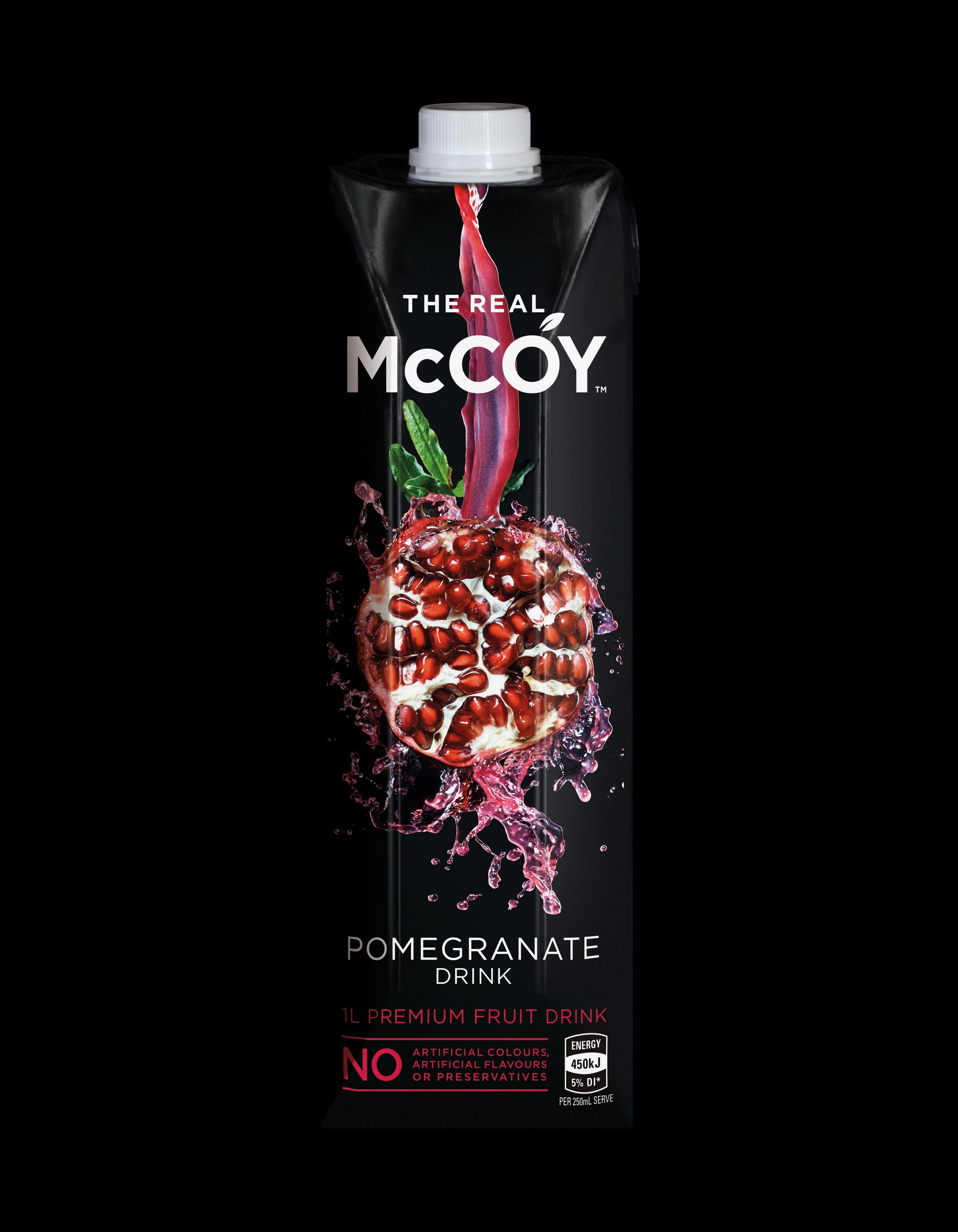 McCoy 1L tetra pomegranate juice packaging