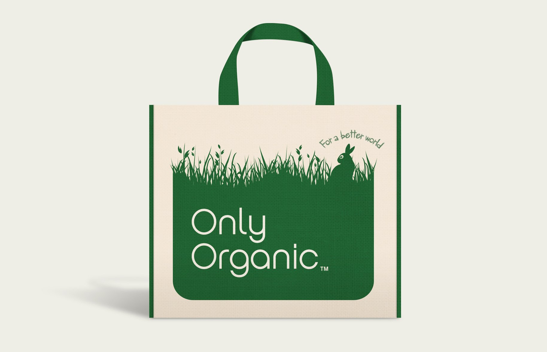 Only Organic branded textured tote bag