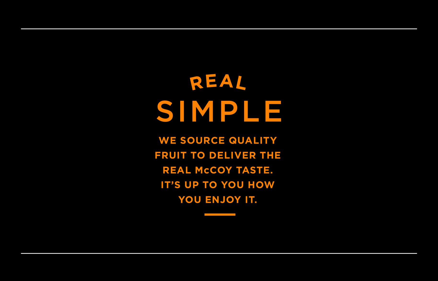 McCoy real simple typography graphic