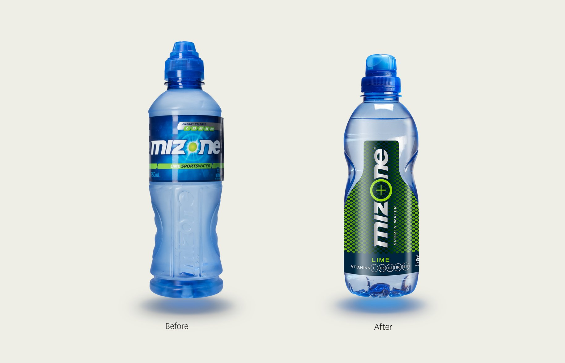Mizone Before and After comparison