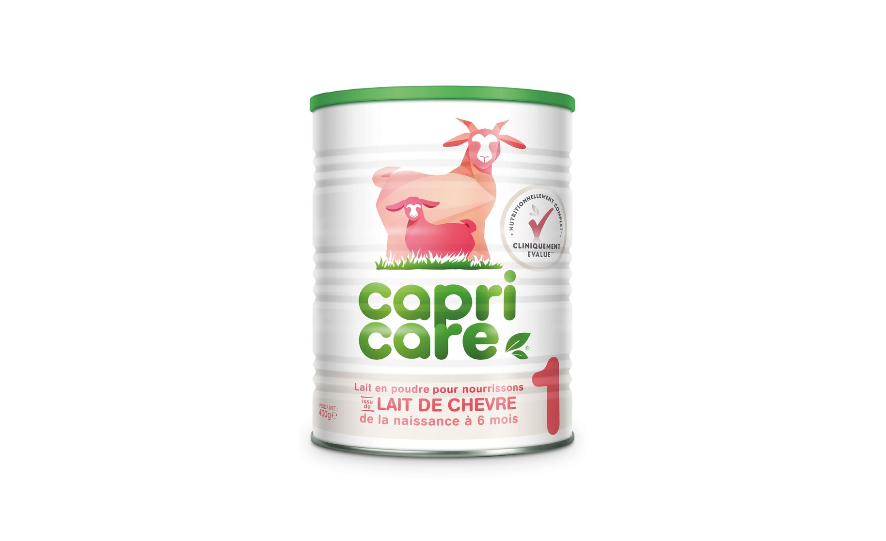 Capricare goat formula packaging