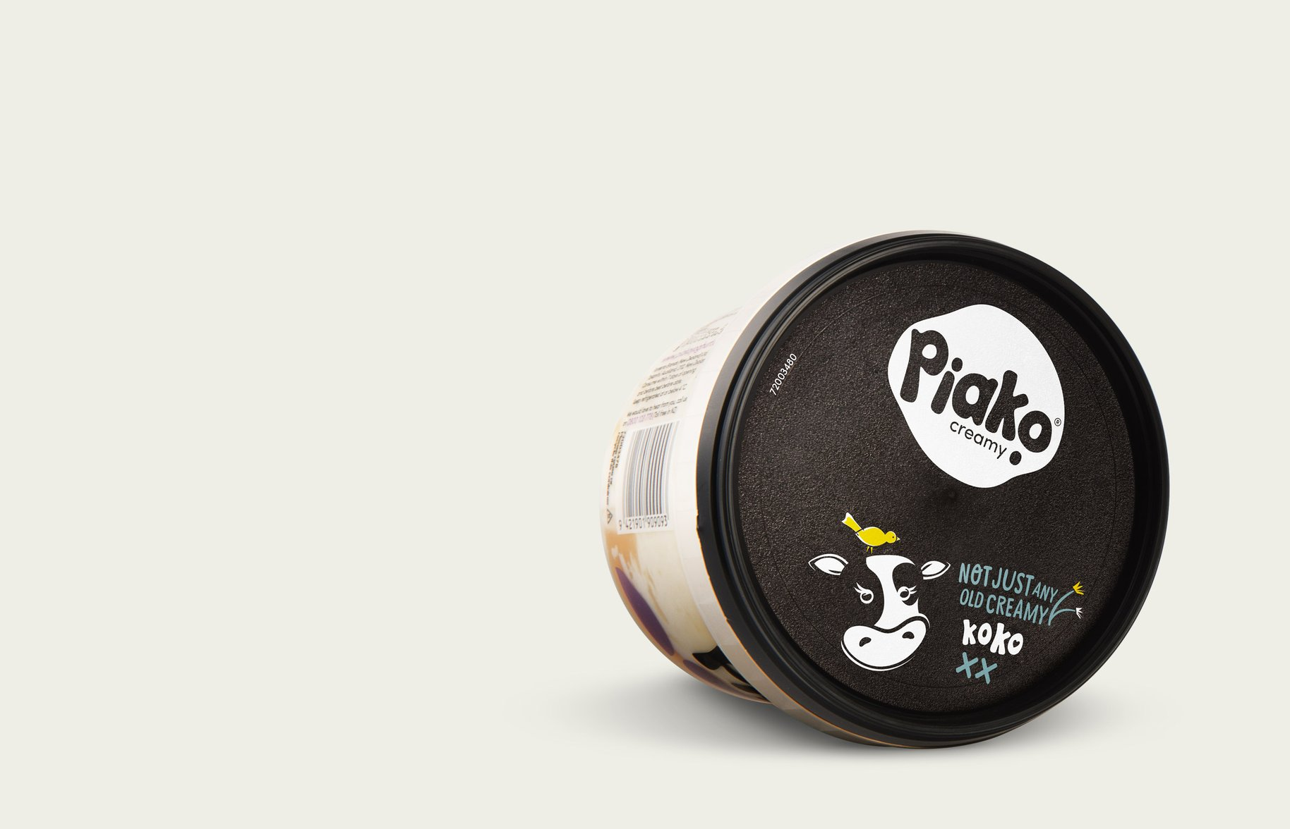 Piako Creamy yoghurt packaging lid