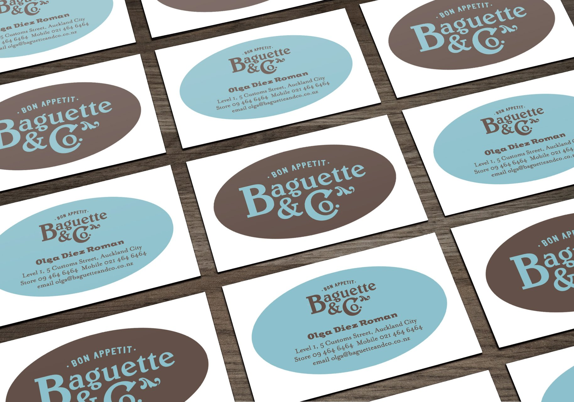 Baguette & Co business cards