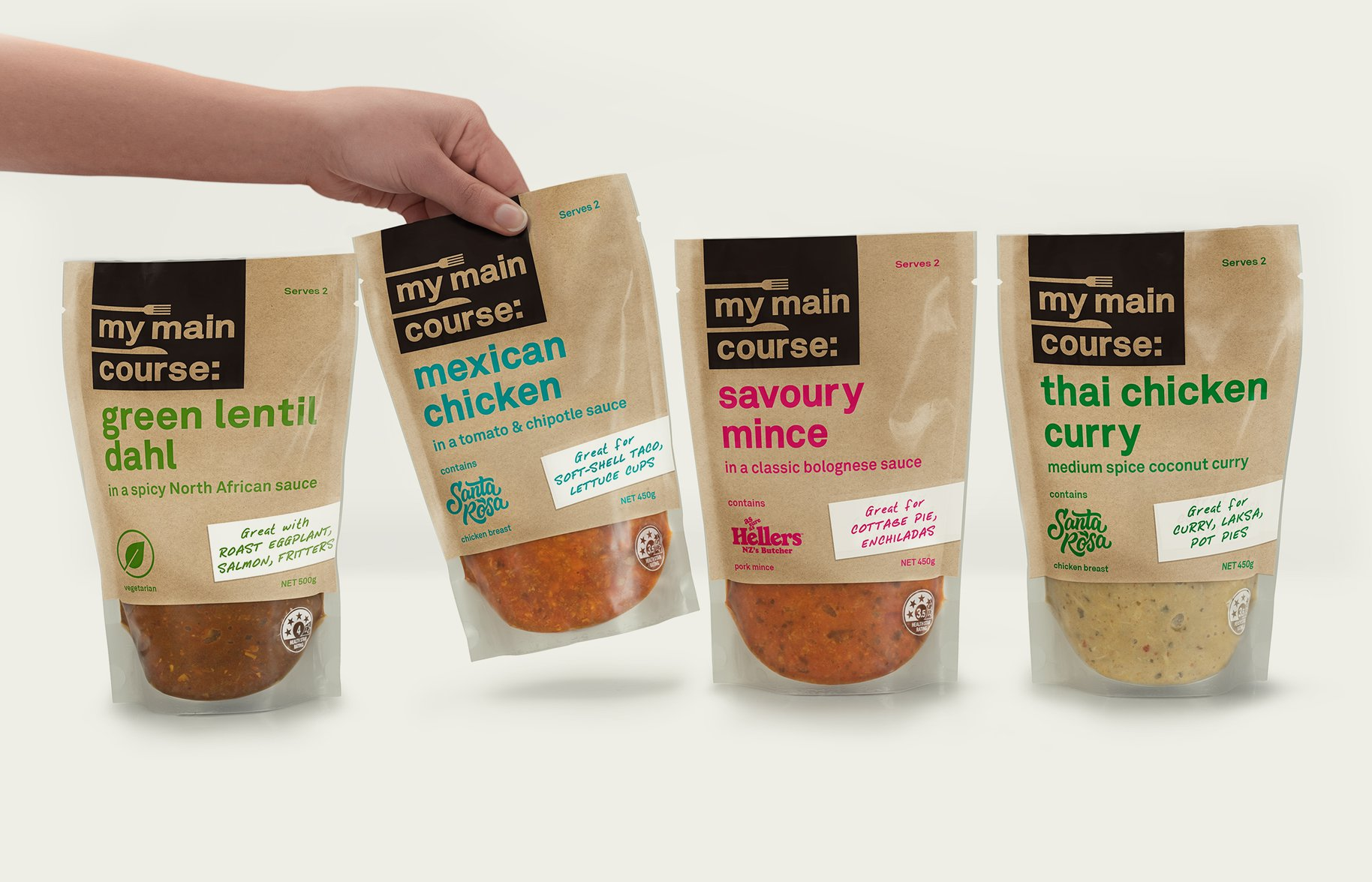 My Main Course Packaging Design