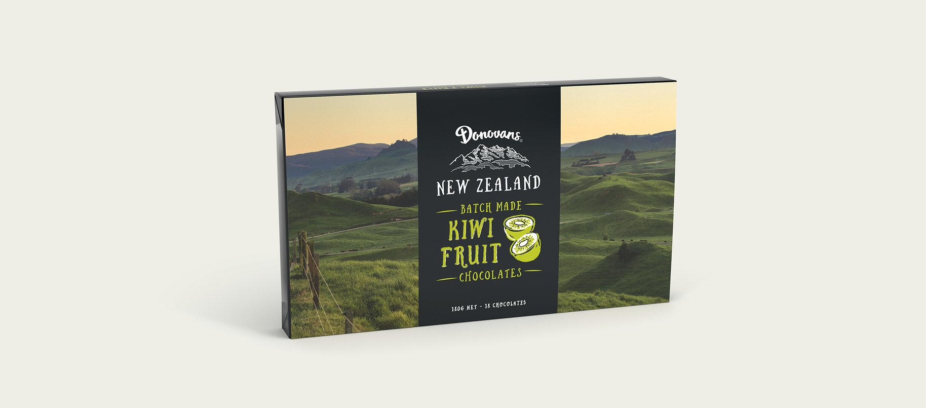 Donovans Chocolate souvenir box packaging