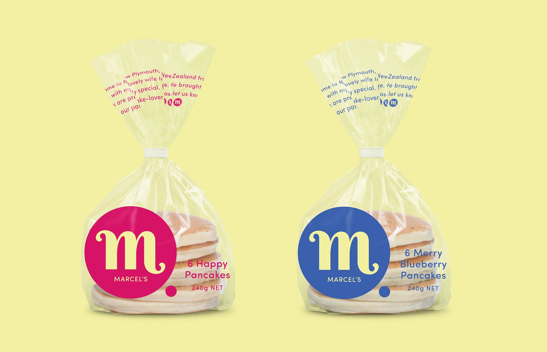 Marcel's Fresh Pancake Packaging