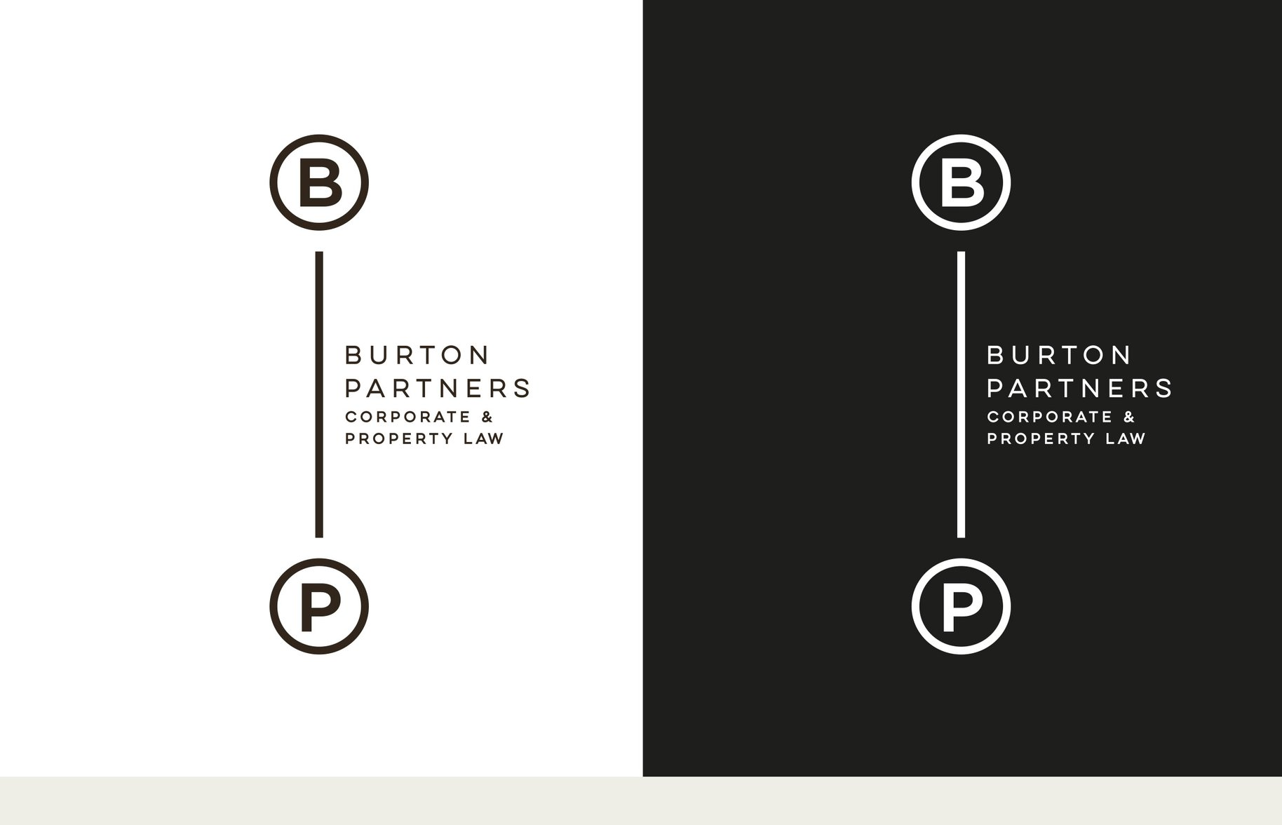 Burton Partners Corporate and Property Law logo black and white