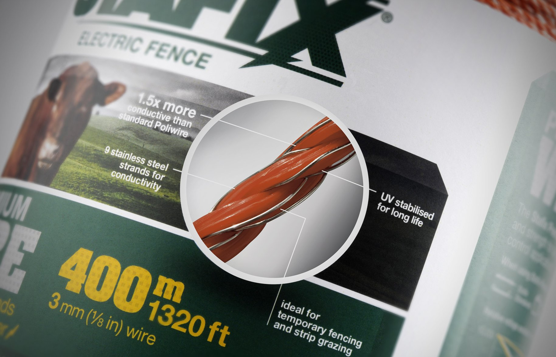 Stafix electric fence packaging details