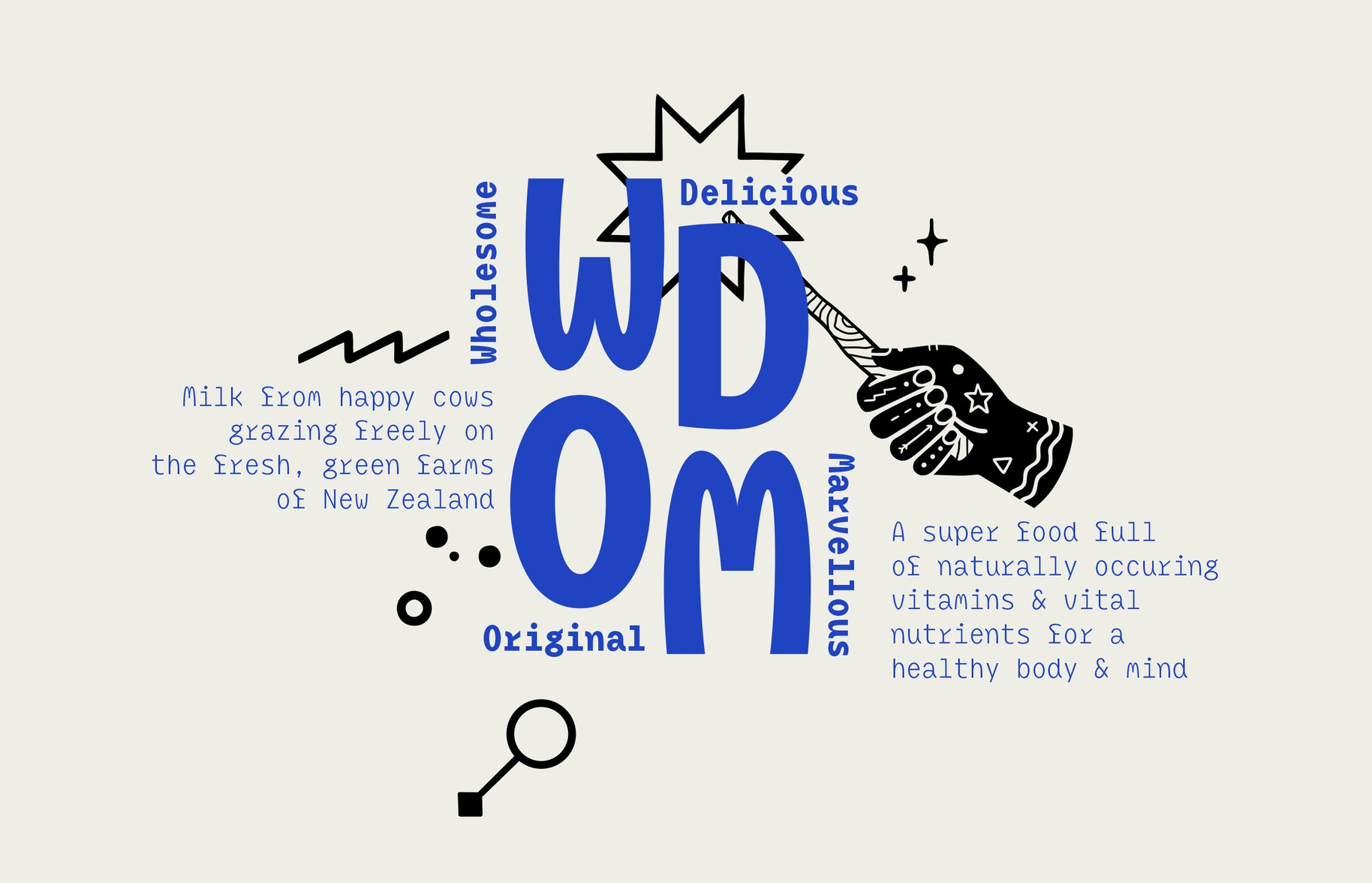 WDOM brand illustration