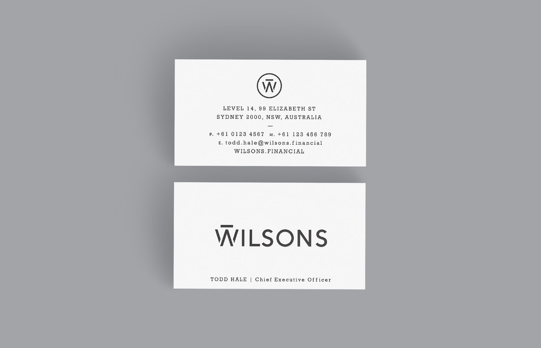 Wilsons Business Cards