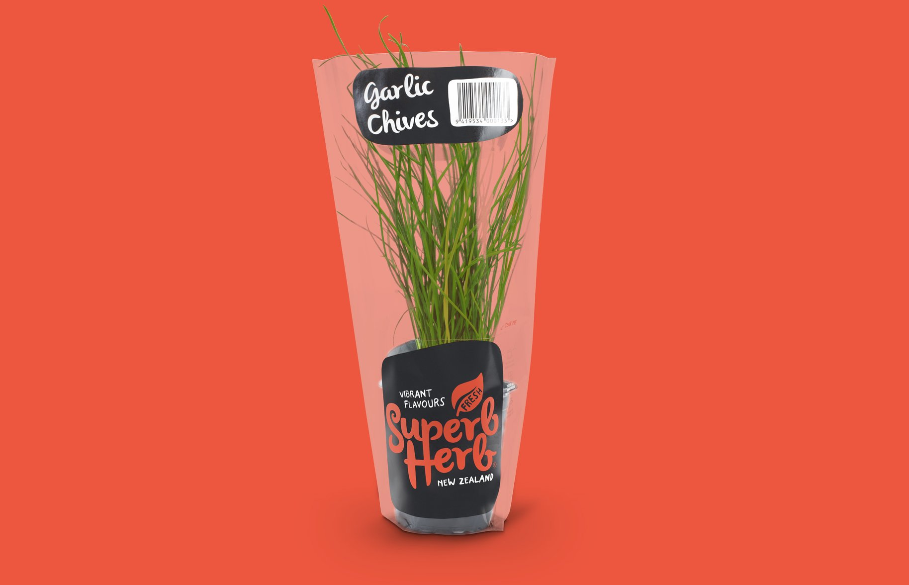 Superb Herb Garlic Chive Fresh Plant Packaging