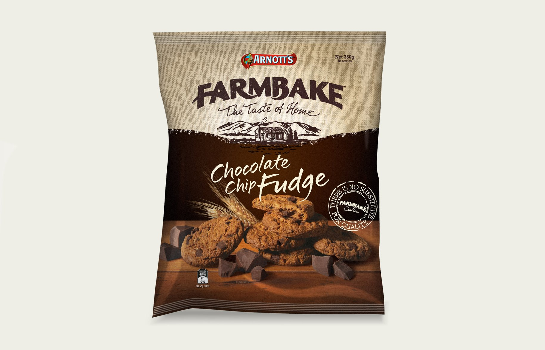 FarmBake Choc Chip Fudge Biscuits