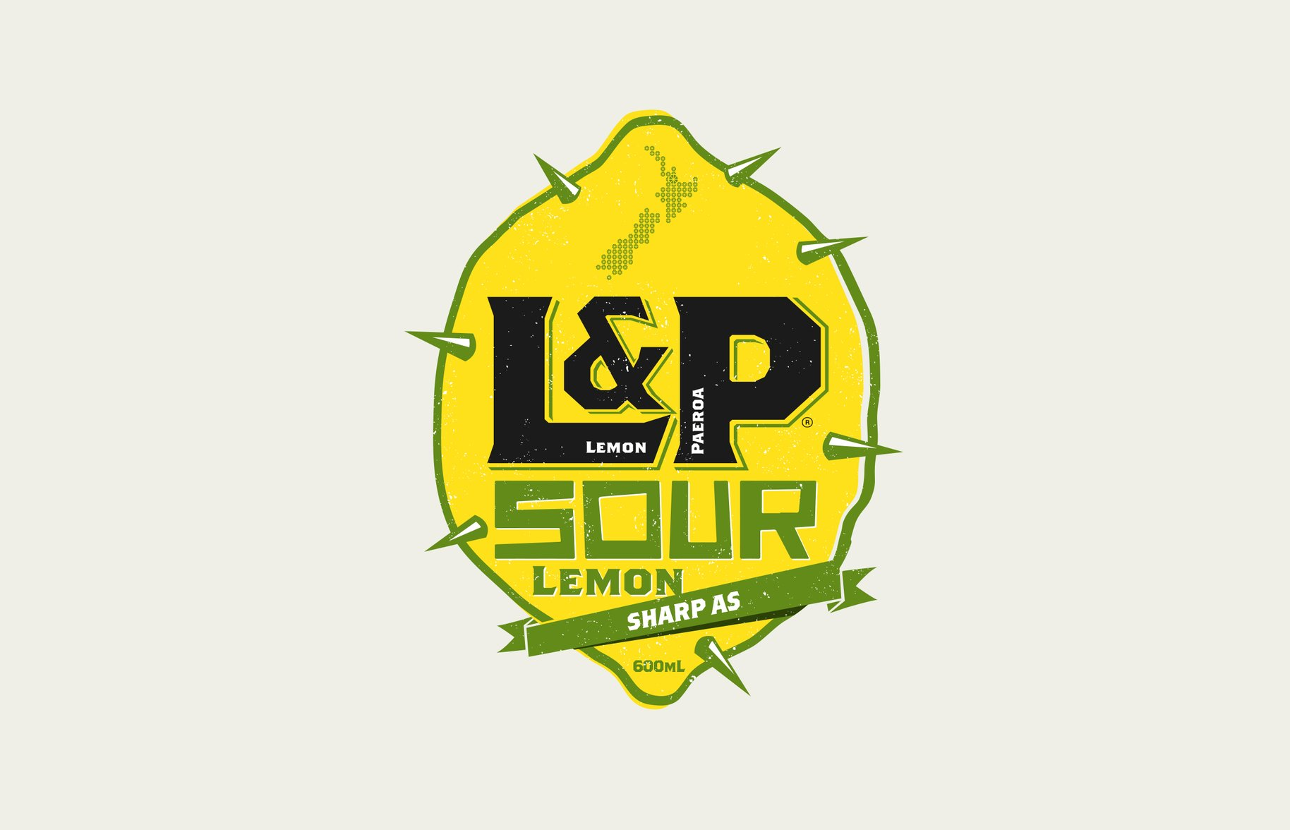 L&P special edition sour lemon spike graphic