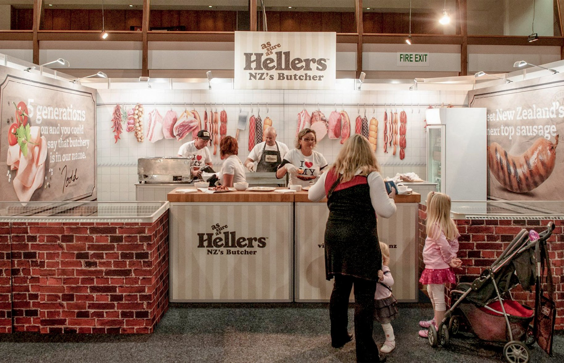 Hellers food show stand spatial design
