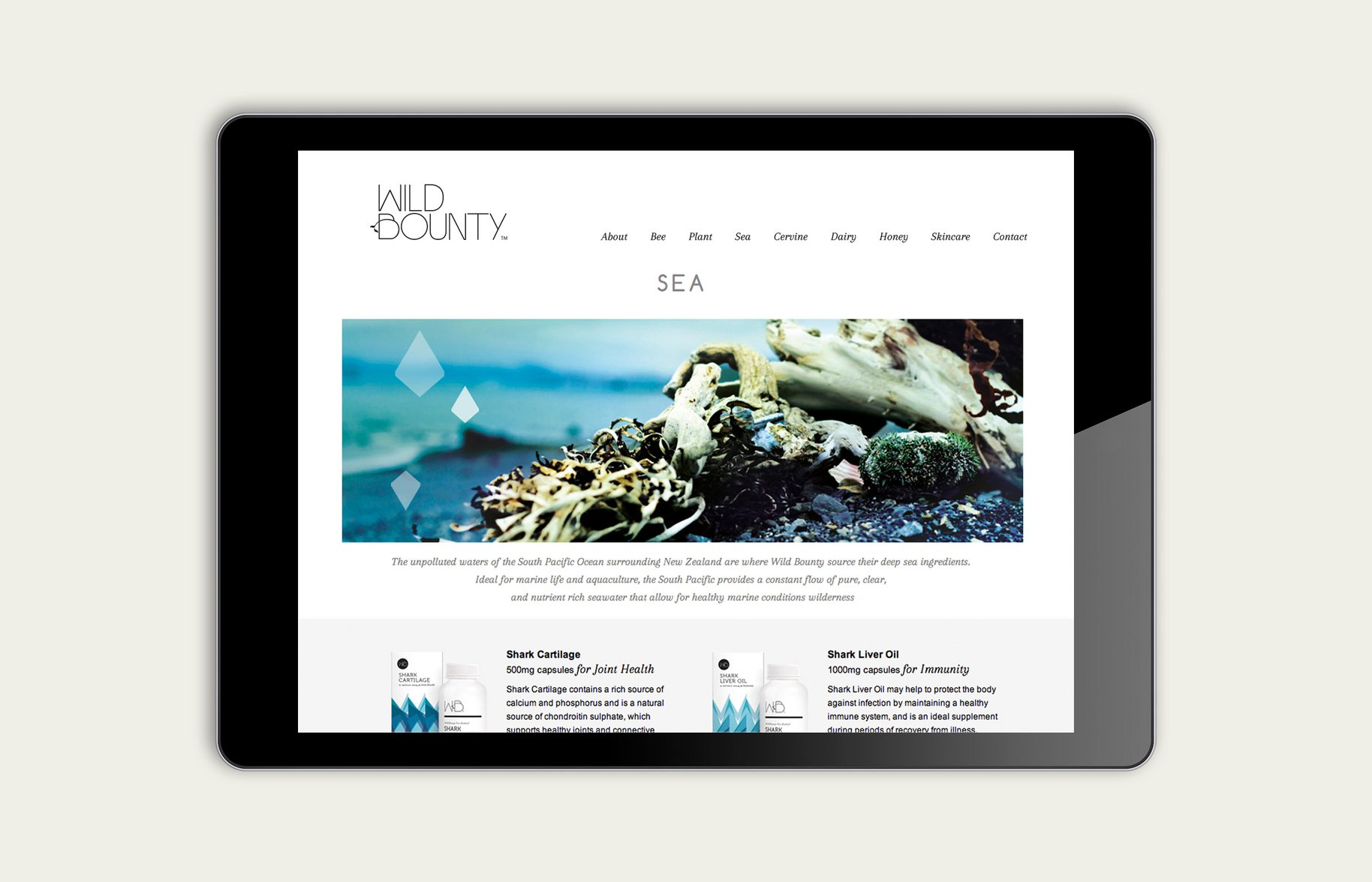 Wild Bounty iPad website sea