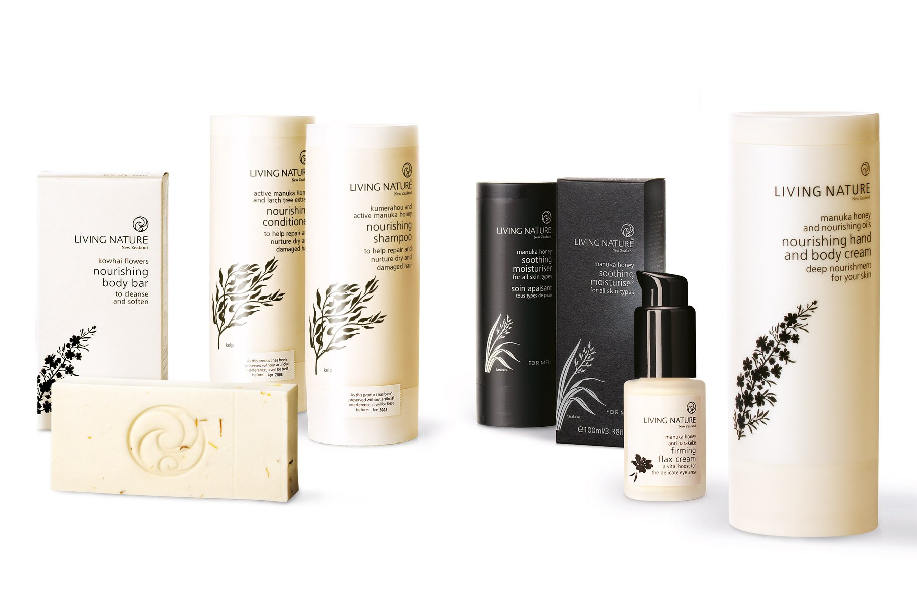 Living Nature product range packaging