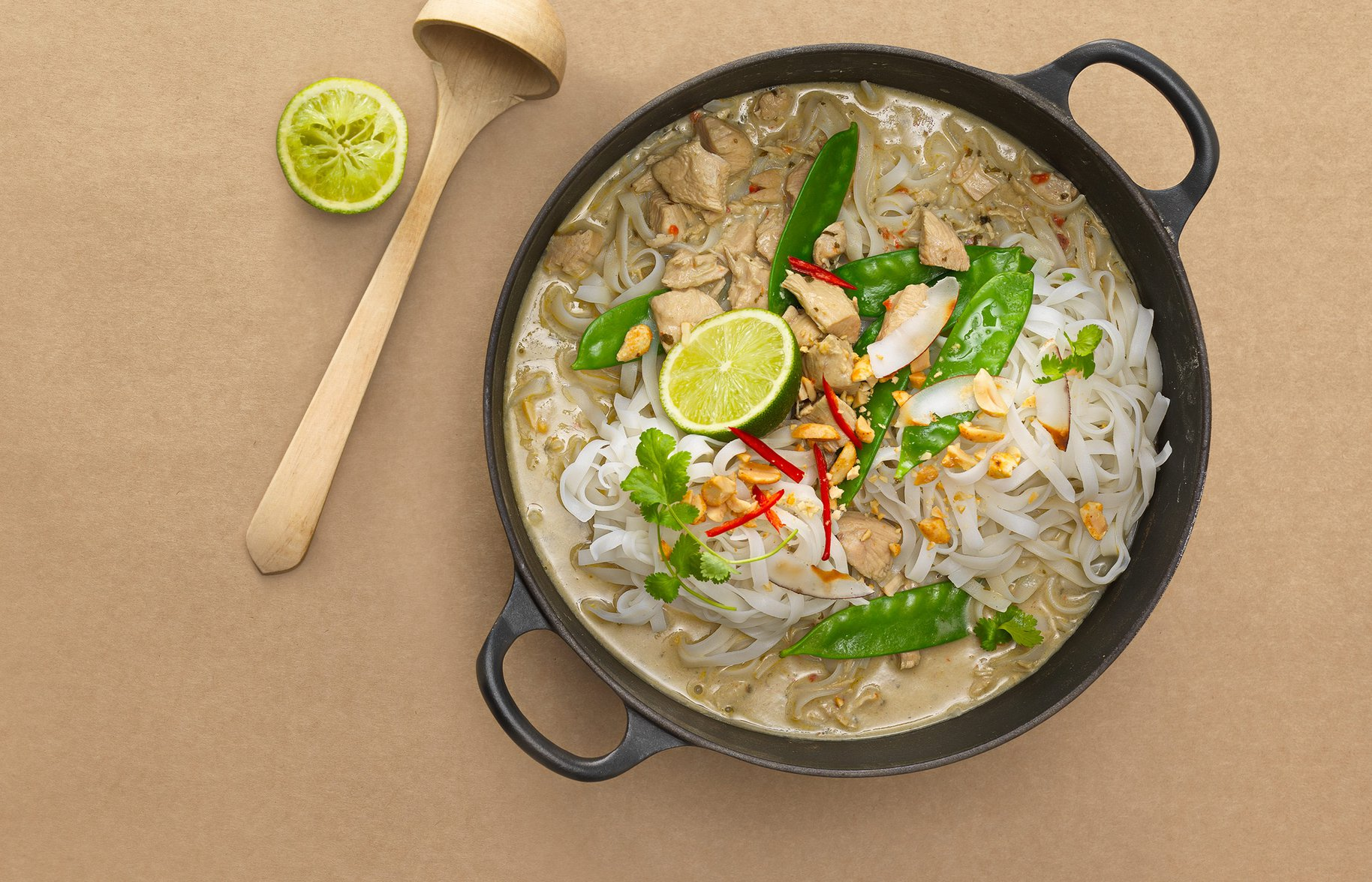 My Main Course Thai Chicken Curry - Laksa Photography