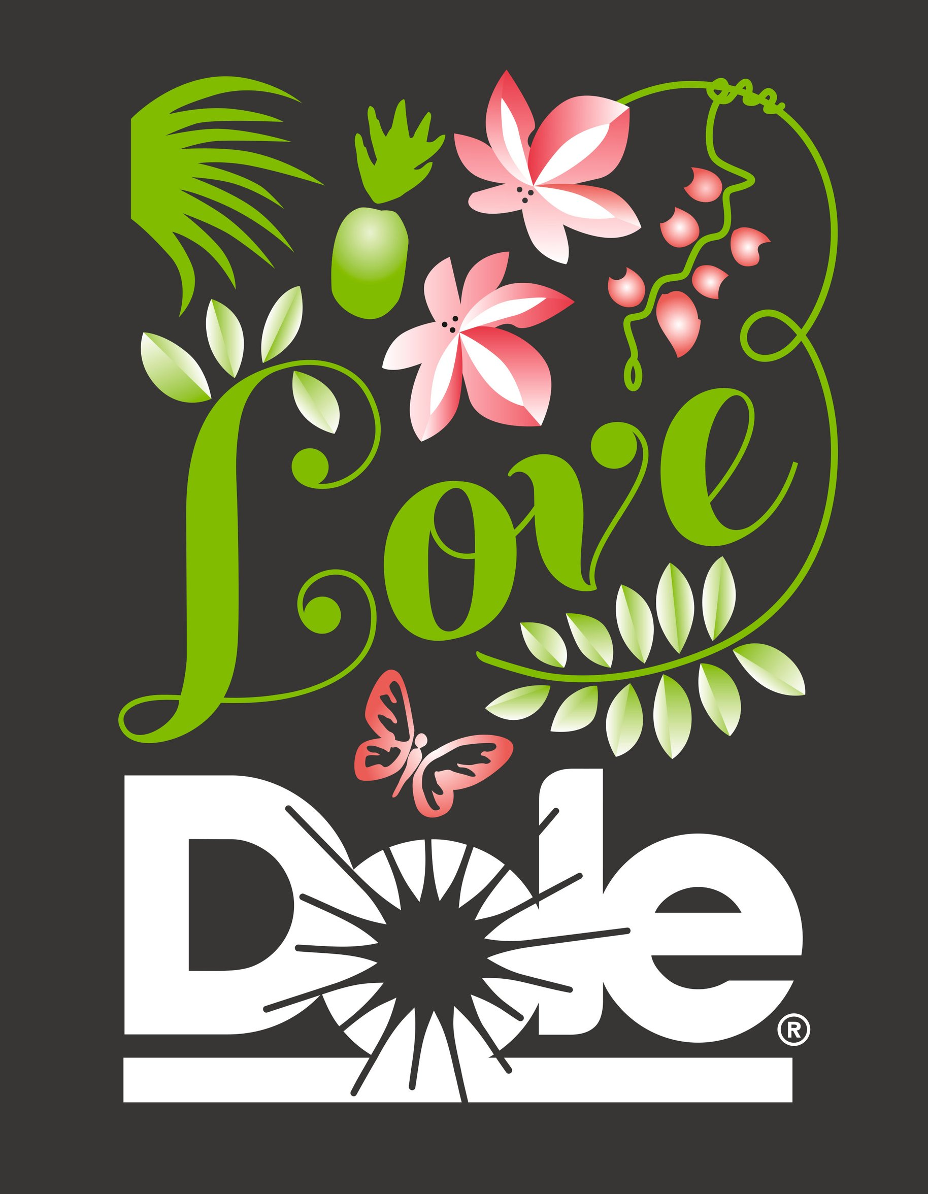 Love Dole graphic design