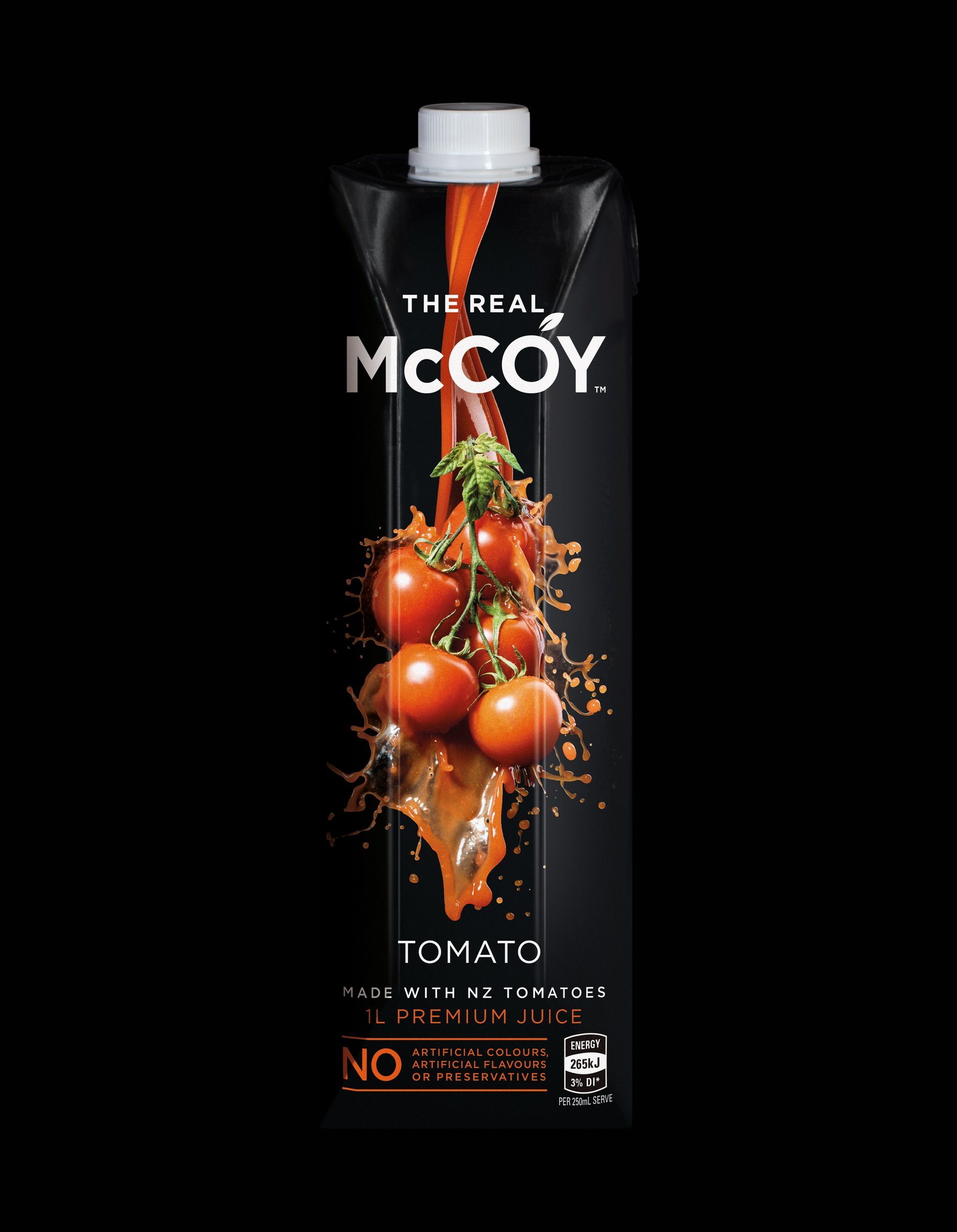 McCoy 1L tetra tomato juice packaging