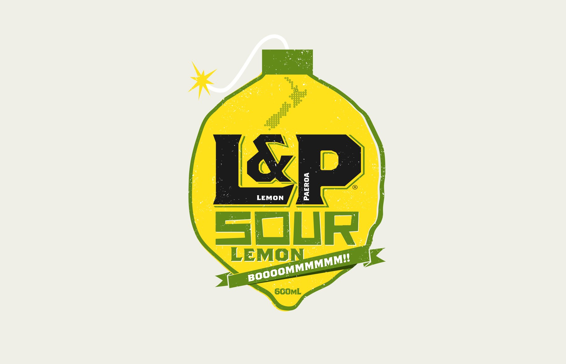 L&P special edition sour lemon bomb graphic