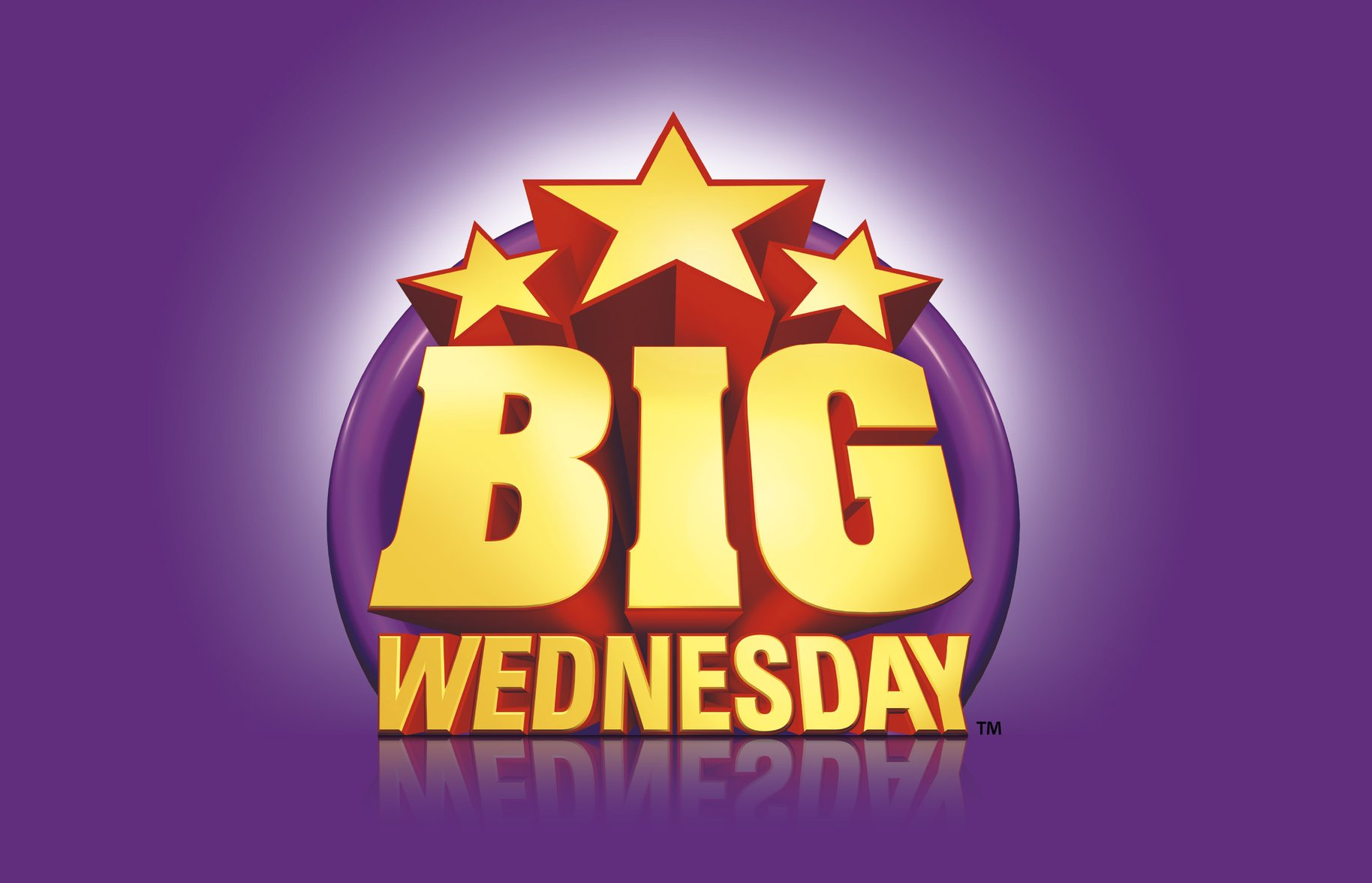 Big Wednesday logo 3d render design