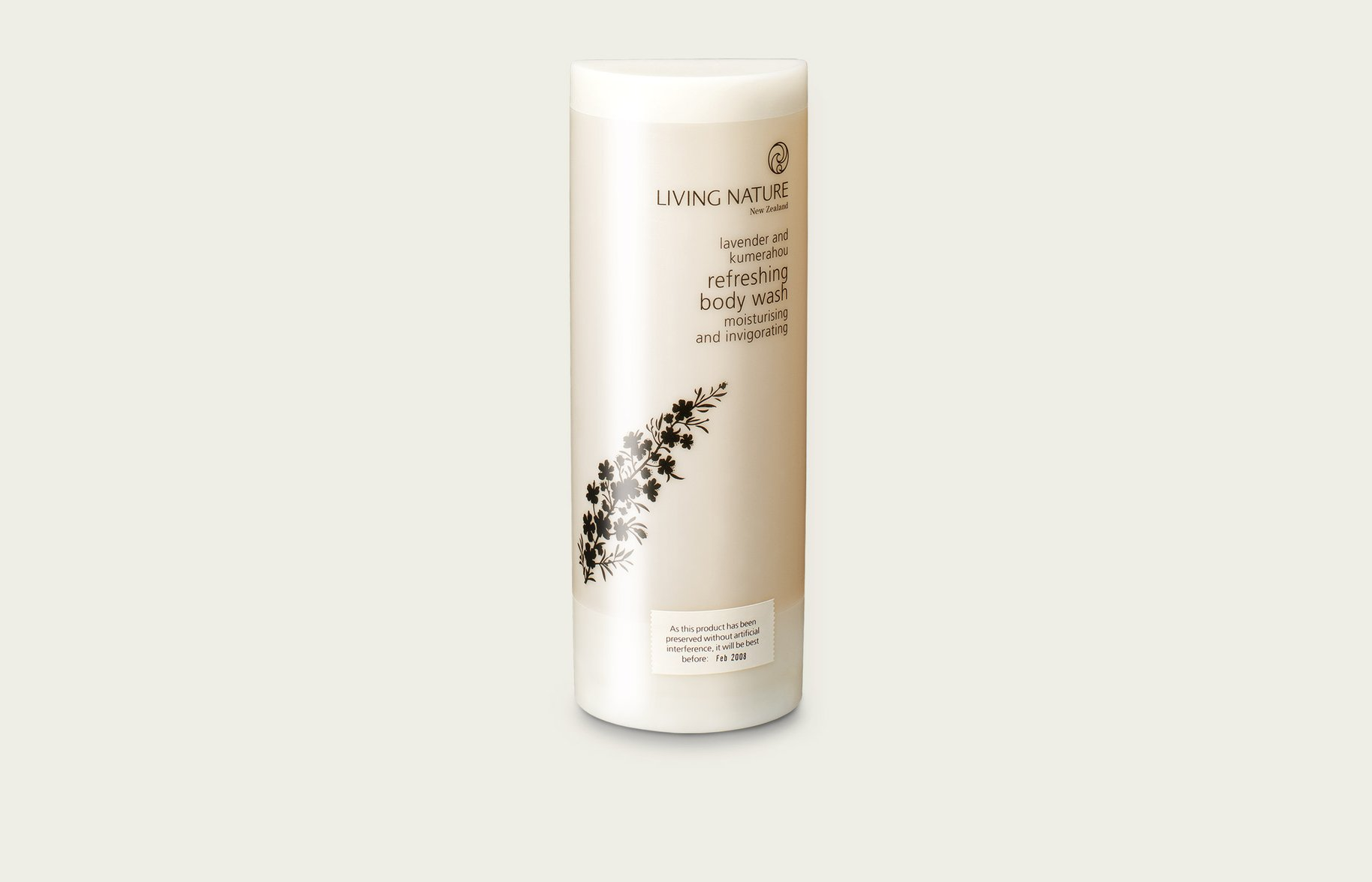 Living Nature refreshing body wash packaging