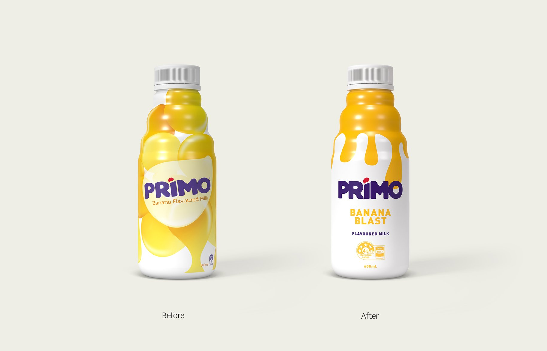 Primo before and after comparison