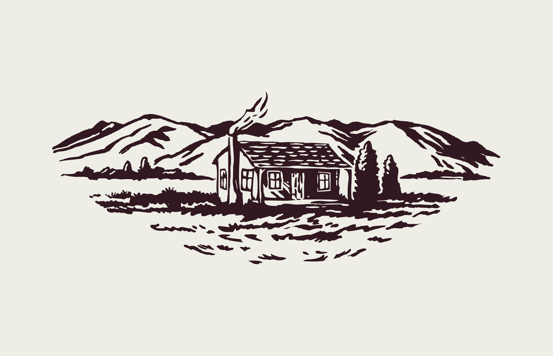 Farmbake Brand House Illustration