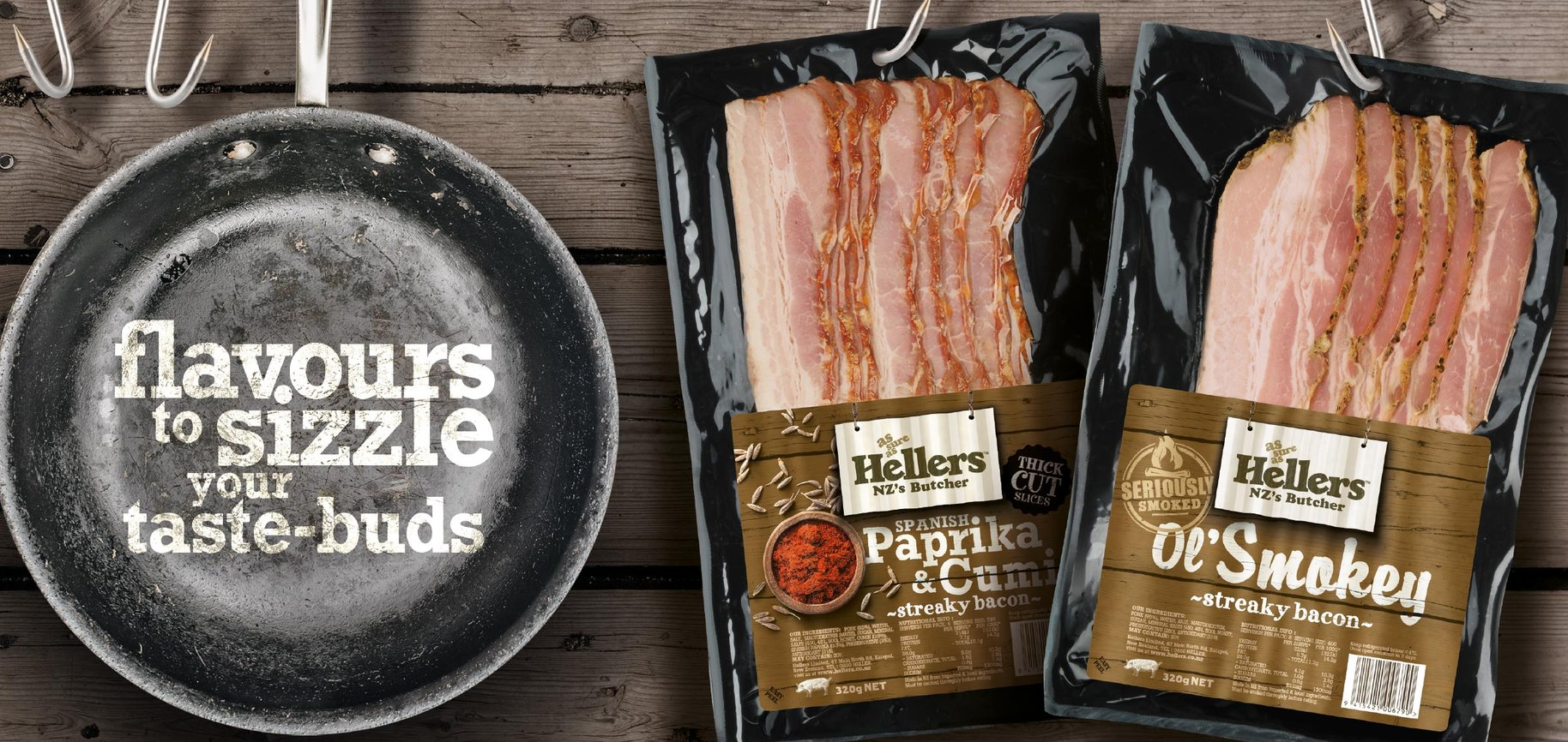 Hellers brand identity food show signage