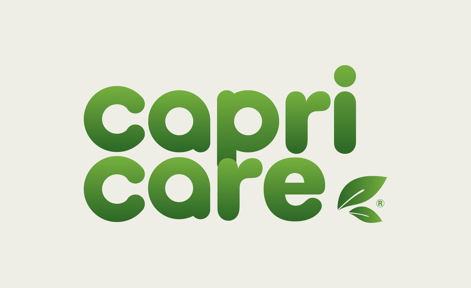 Capricare logo with leaf