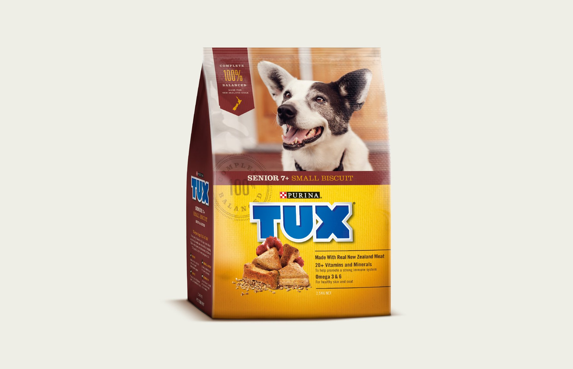 Tux Senior 7+ Small Biscuit packaging