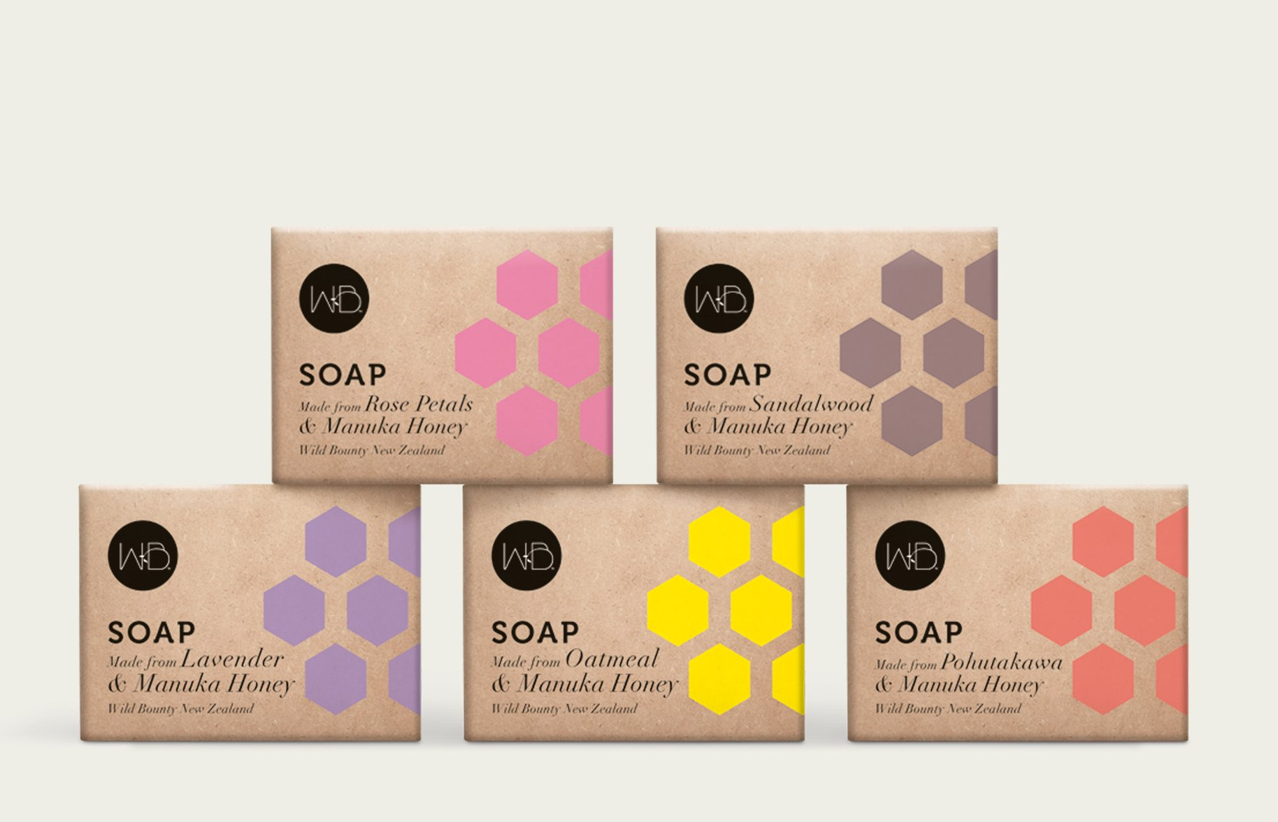 Wild Bounty soap range packaging
