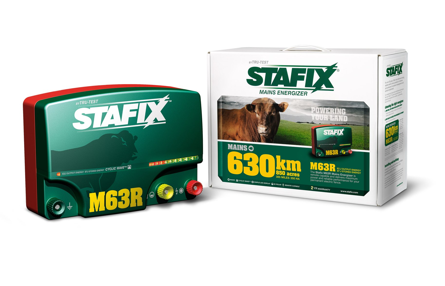 Stafix mains energizer packaging