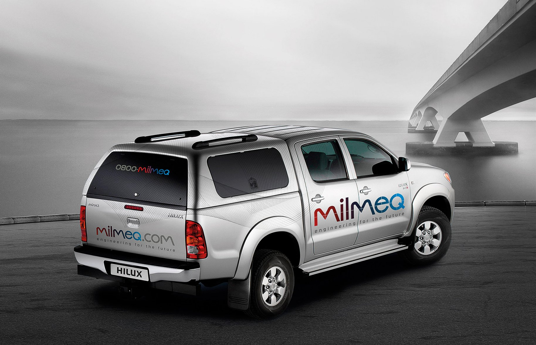 Milmeq Brand Identity vehicle