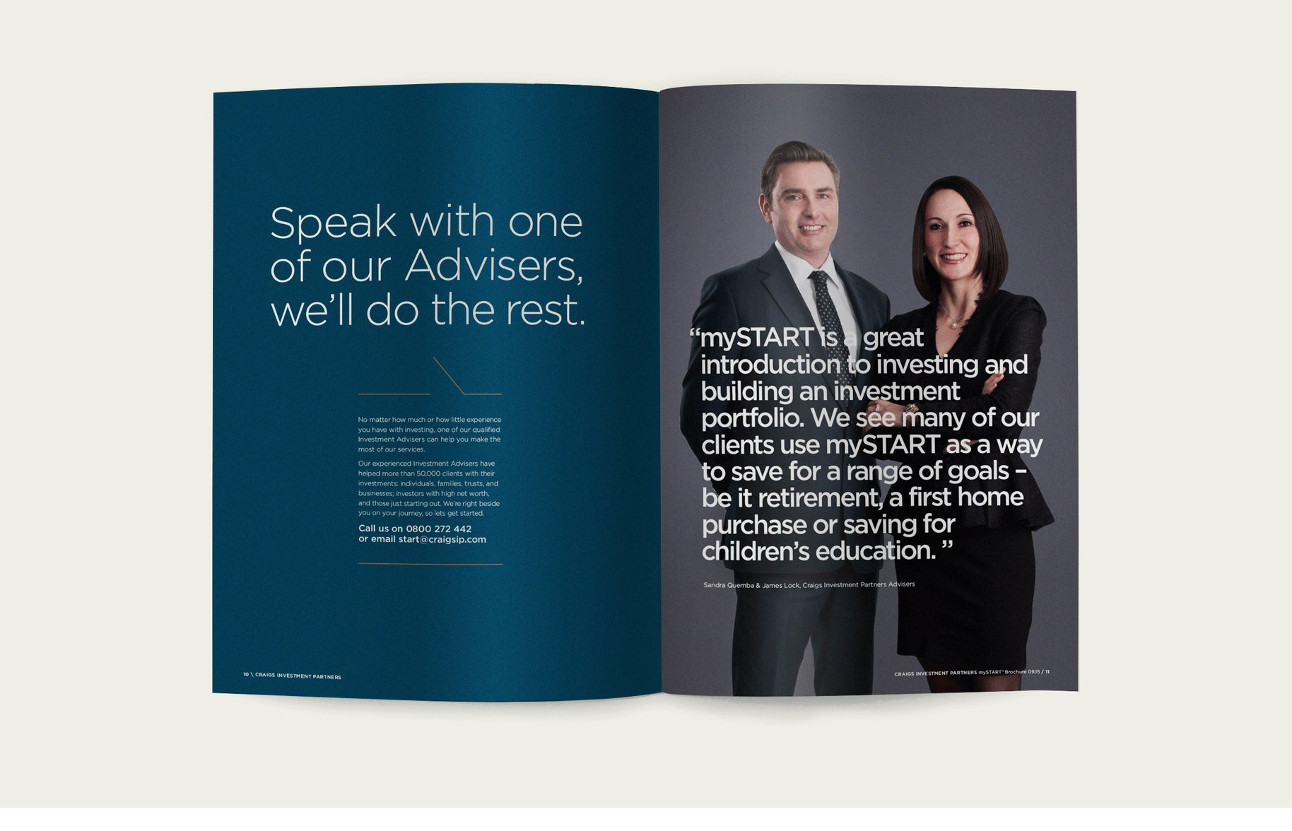 Craigs Investment Partners booklet spread