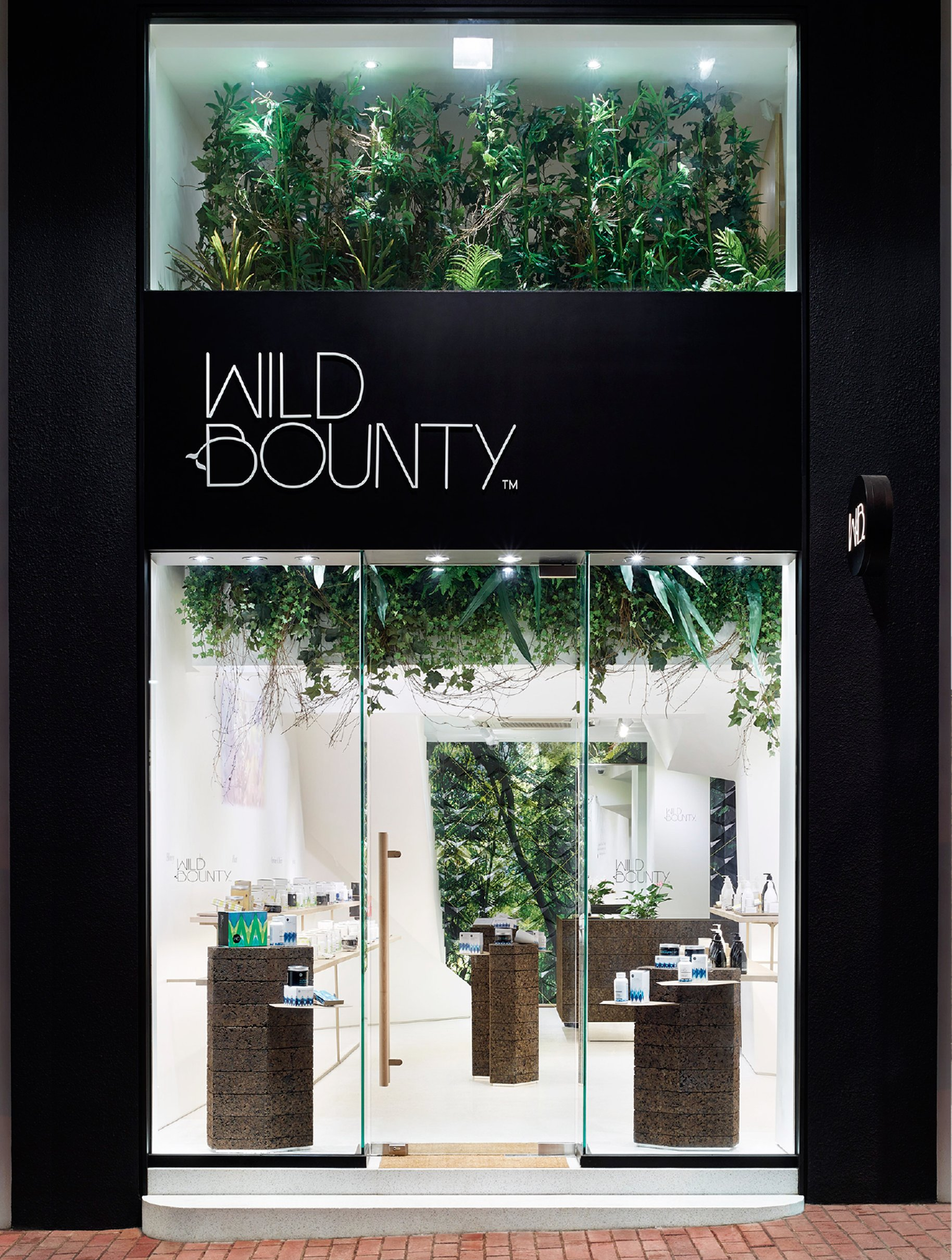 Wild Bounty store front spatial design photography