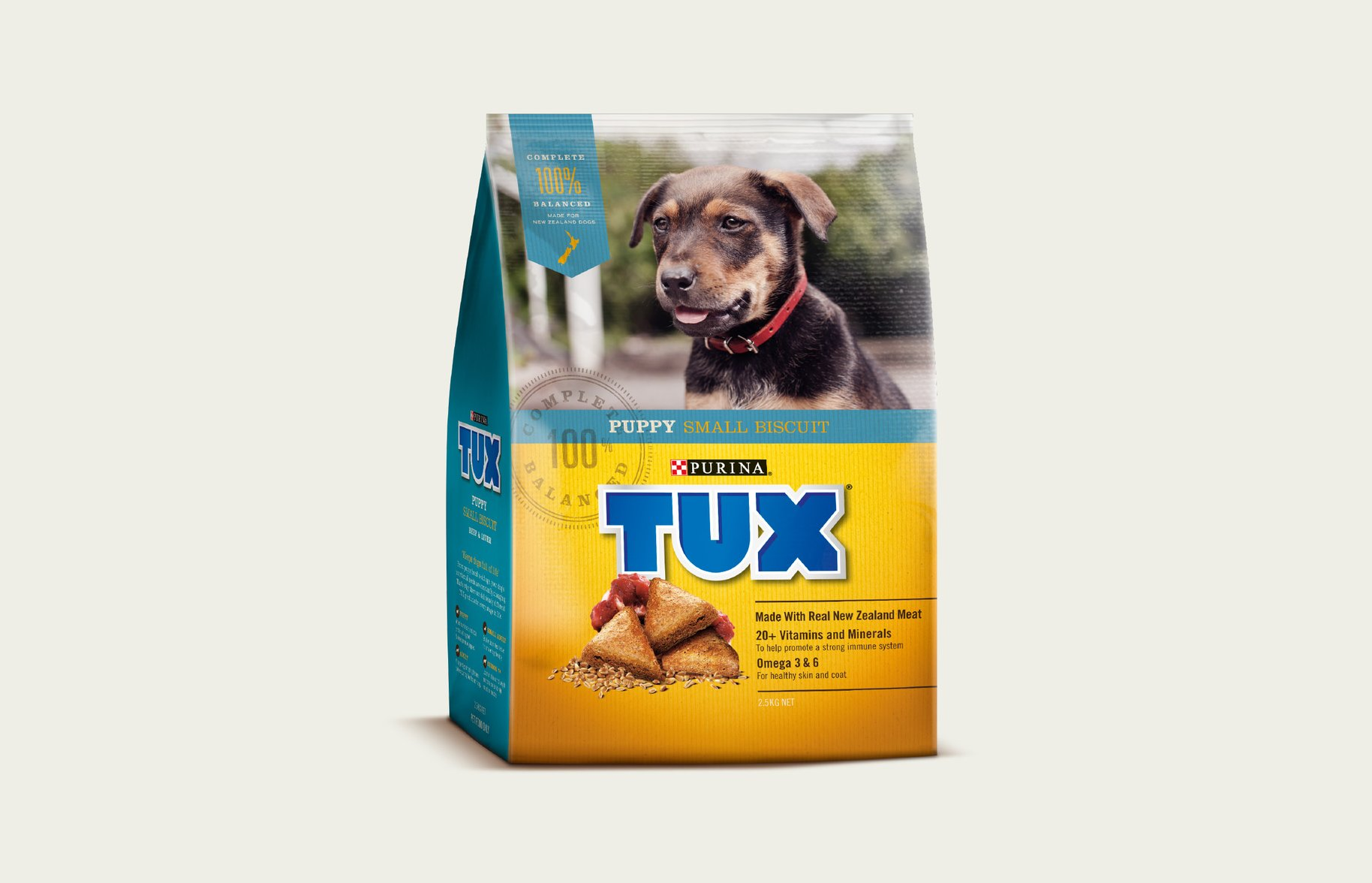 Tux Senior Puppy Small Biscuit packaging